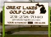 Great Lakes Golf Cars Sign
